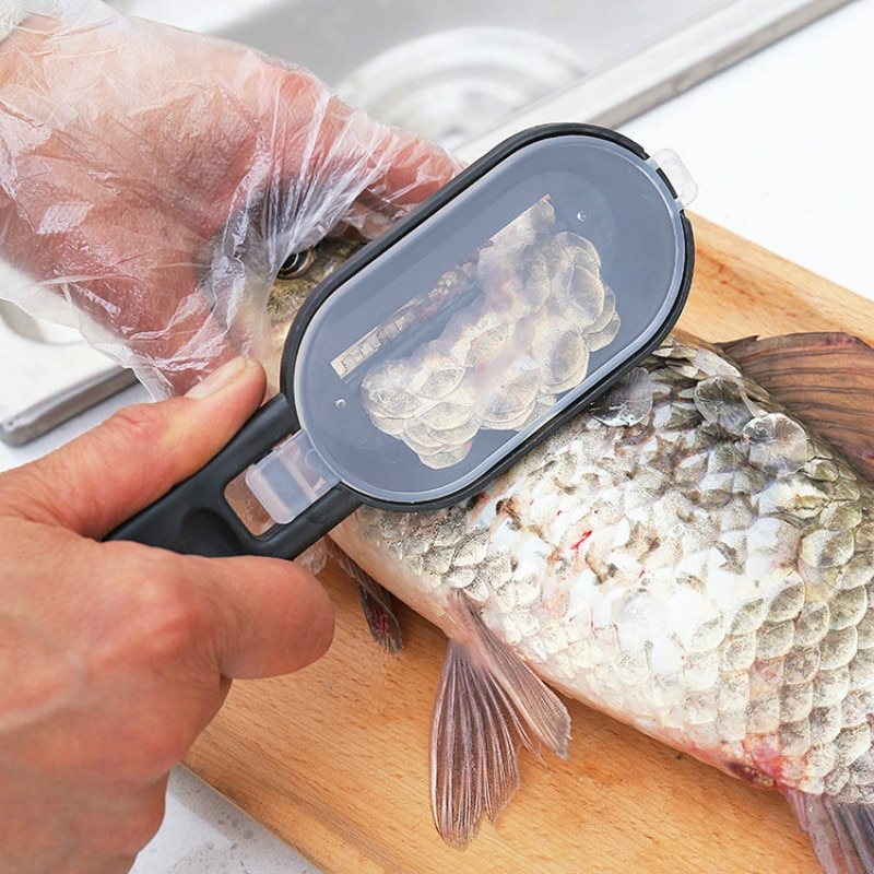 Fish Skin Brush Fast Remove Fish Scale Scraper Planer Tool Fish Scaler Fishing Knife Cleaning Tools Kitchen Cooking Accessorie Stuffcanvas
